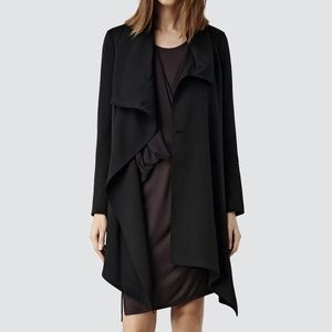 All Saints Aiko Monument Coat in Black